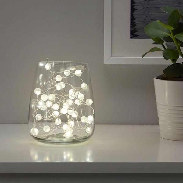 斯诺于拉 LED灯串,40个灯泡 室内/电池操作 银色 1 米 10 厘米 0.1 瓦特 4.9 米
