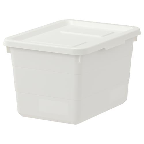 索克比 附盖储物盒 白色 19 厘米 26 厘米 15 厘米