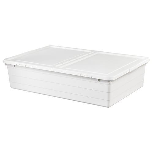 索克比 附盖储物盒 白色 77 厘米 50 厘米 19 厘米 55 公升