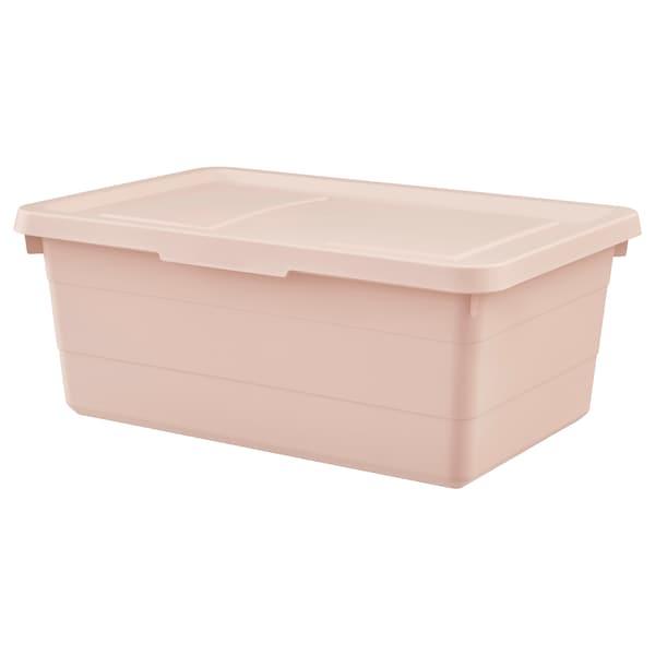 SOCKERBIT 索克比 附盖储物盒, 粉红色, 38x25x15 厘米