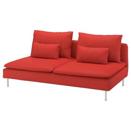 索德汉 三人座 威索尔 橙红色 186 厘米 99 厘米 83 厘米 186 厘米 48 厘米 40 厘米
