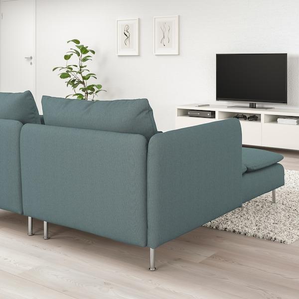 索德汉 四人沙发 带贵妃椅 开放式/芬斯塔 天蓝色 83 厘米 69 厘米 151 厘米 285 厘米 99 厘米 122 厘米 14 厘米 6 厘米 70 厘米 39 厘米