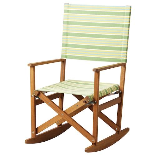 索布列克 摇椅 可折叠 桉树/条形图案 绿色 100 公斤 60 厘米 75 厘米 110 厘米 45 厘米 52 厘米 46 厘米