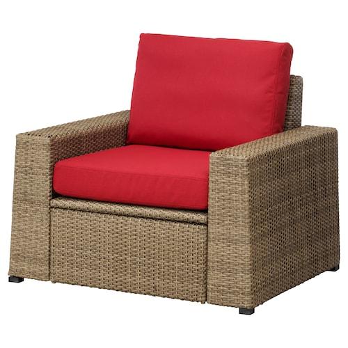 索勒伦 扶手椅,户外 褐色/弗洛松/杜霍蒙 红色 98 厘米 82 厘米 88 厘米 62 厘米 48 厘米 44 厘米