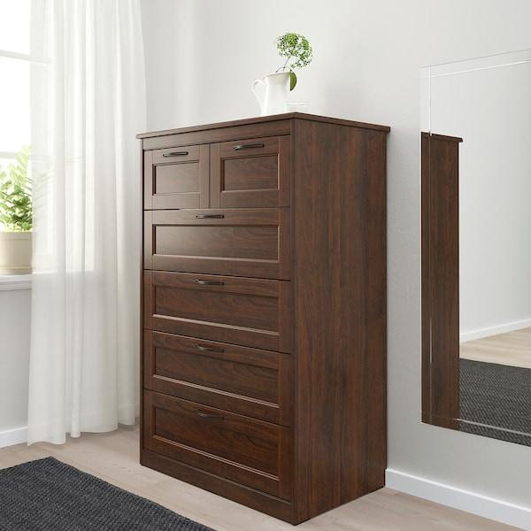 松耶桑德 6屉柜 褐色 82 厘米 50 厘米 126 厘米 71 厘米 40 厘米
