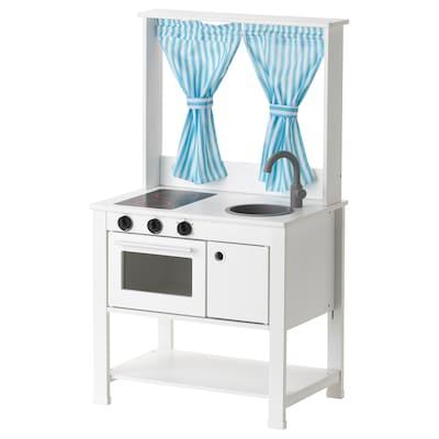 SPISIG 斯皮西格 玩具厨房带帘, 55x37x98 厘米