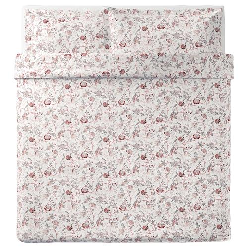 斯普兰约特 被套和2个枕套 白色/粉红色 250 Inch² 2 件 220 厘米 240 厘米 50 厘米 80 厘米