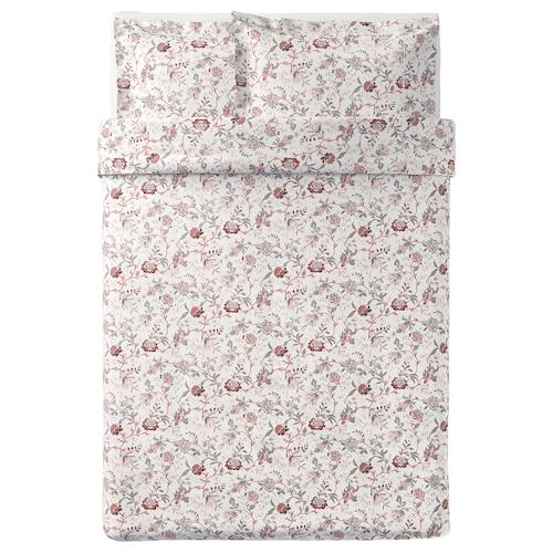 斯普兰约特 被套和2个枕套 白色/粉红色 250 Inch² 2 件 230 厘米 200 厘米 50 厘米 80 厘米