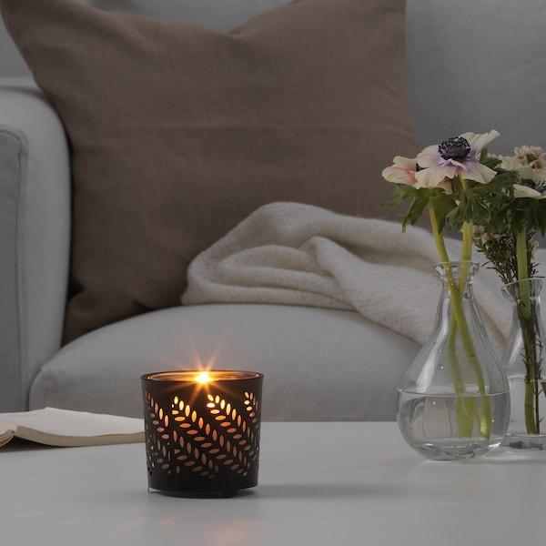 斯泰比 杯装蜡烛装饰 黑色 8 厘米 8 厘米