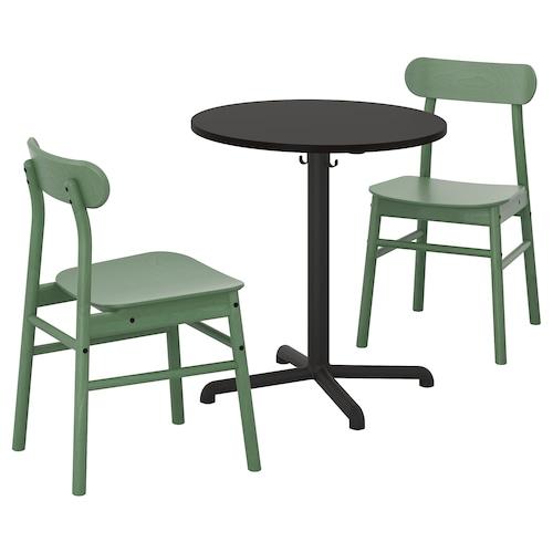 思丹塞 / 瑞宁 一桌二椅 煤黑色 煤黑色/绿色