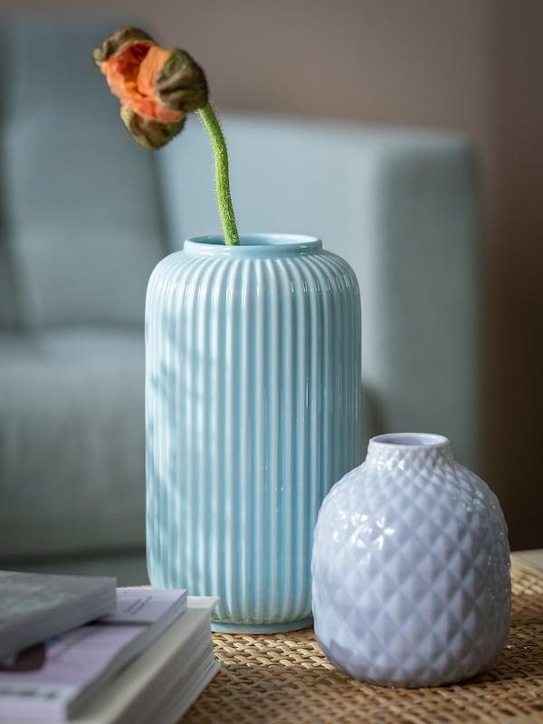 斯缇仁 花瓶 蓝色 22 厘米