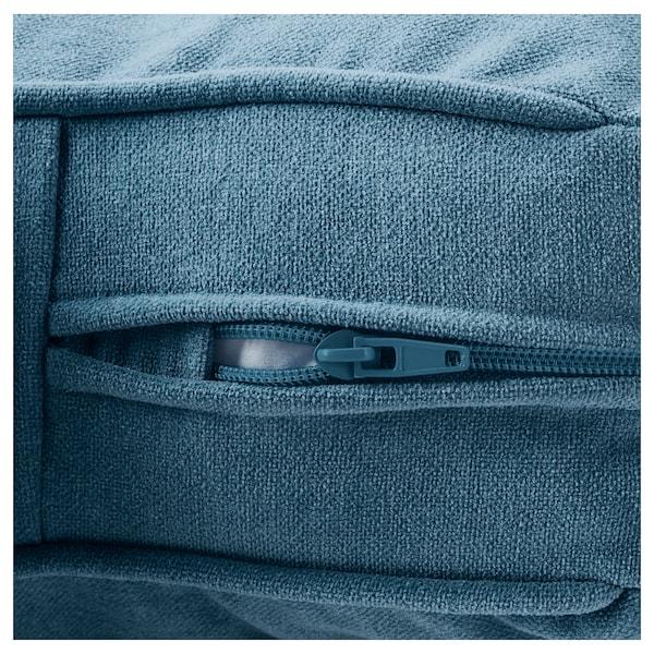 STOCKSUND 斯托桑 单人沙发/扶手椅, 利恩金 蓝色/黑色/原木色