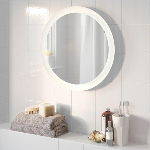 STORJORM 司铎约 镜子带照明, 白色, 47 厘米