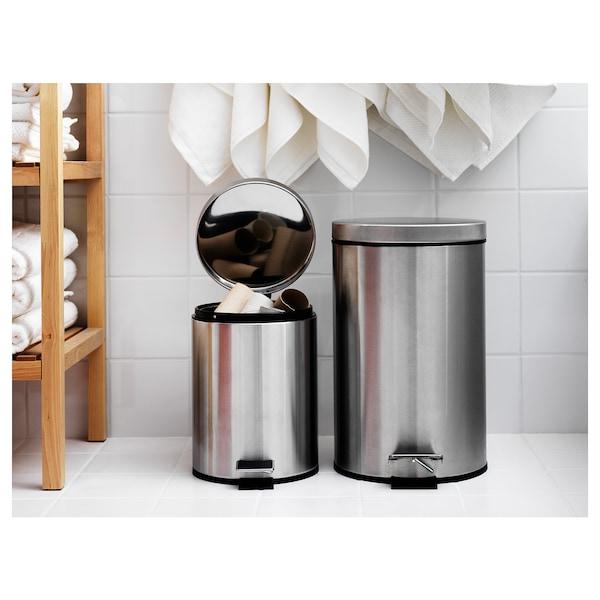 STRAPATS 斯加帕 踏板式垃圾桶, 不锈钢, 5 公升