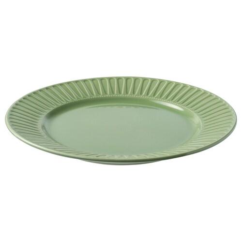 斯特里米格 碟 石瓷/绿色 27 厘米