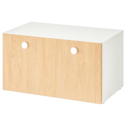 斯多瓦 / 弗利亚 长凳 白色/桦木 90 厘米 50 厘米 50 厘米