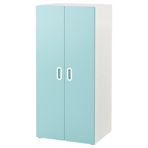 斯多瓦 / 福利蒂德斯 衣柜 白色/浅蓝色 60 厘米 50 厘米 128 厘米