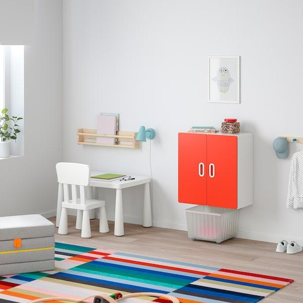 STUVA 斯多瓦 / FRITIDS 福利蒂德斯 壁柜, 白色/红色, 60x30x64 厘米