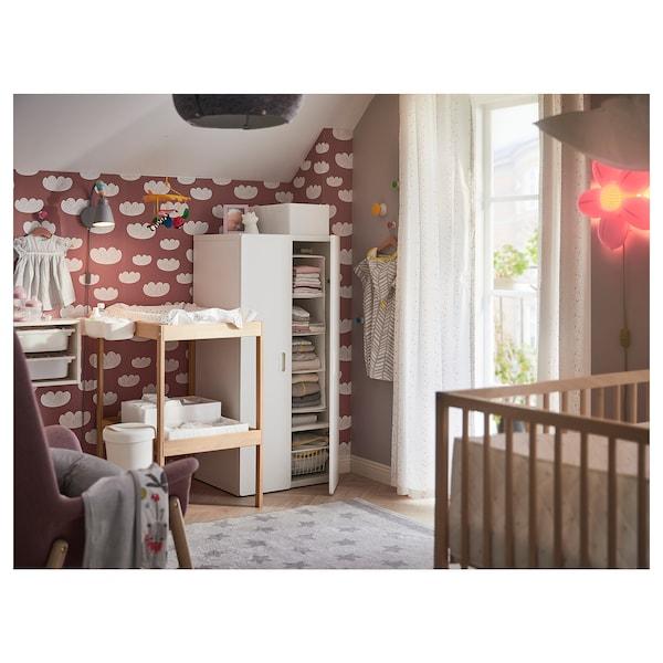 STUVA 斯多瓦 / FRITIDS 福利蒂德斯 衣柜, 白色/白色, 60x50x128 厘米