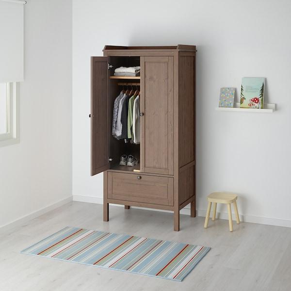 SUNDVIK 桑维 衣柜, 灰褐色, 80x50x172 厘米