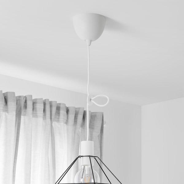SUNNEBY 松尼比 灯线装置, 白色 纺织品, 1.8 米