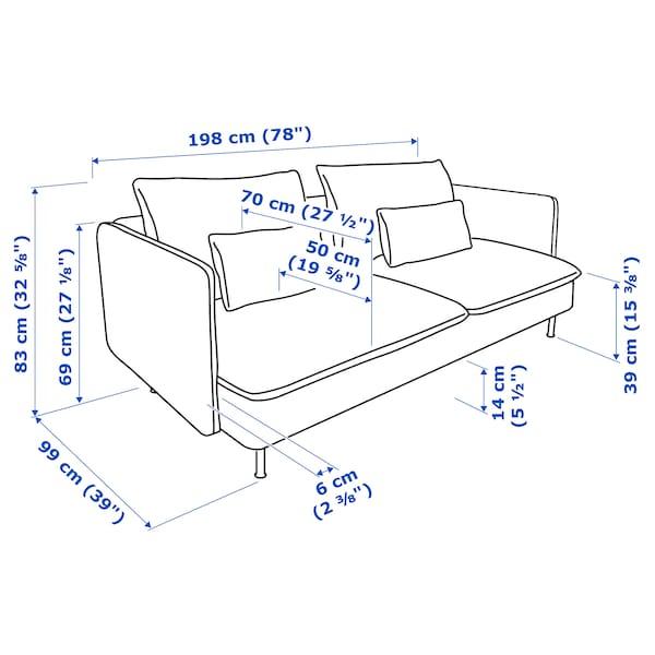 索德汉 三人沙发, 芬斯塔 白色