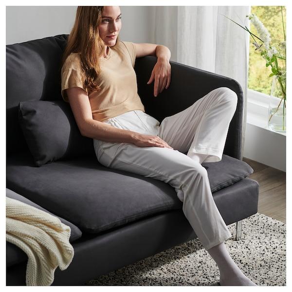 索德汉 四人沙发, 带贵妃椅/萨斯塔 深灰色