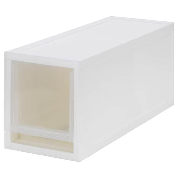 索普鲁 拉出式储物单元, 透明白色, 17x46x21 厘米