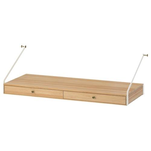 斯瓦纳 书桌含2件抽屉 竹 81 厘米 35 厘米 35 厘米 25 厘米 25 公斤