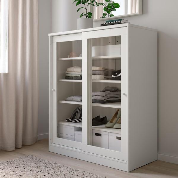 SYVDE 斯维德 玻璃门橱柜, 白色, 100x123 厘米