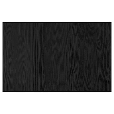 TIMMERVIKEN 汀梅维肯 门/抽屉前板, 黑色, 60x38 厘米