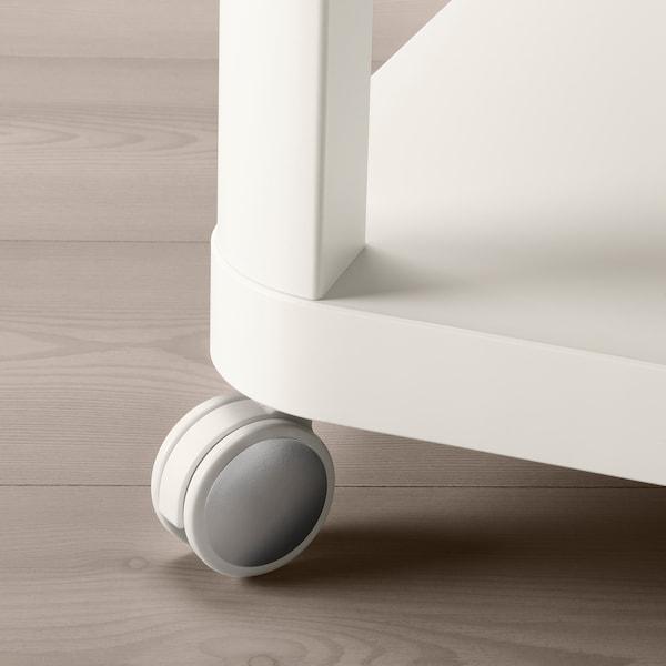 TINGBY 新贝 脚轮边桌, 白色, 50x50 厘米