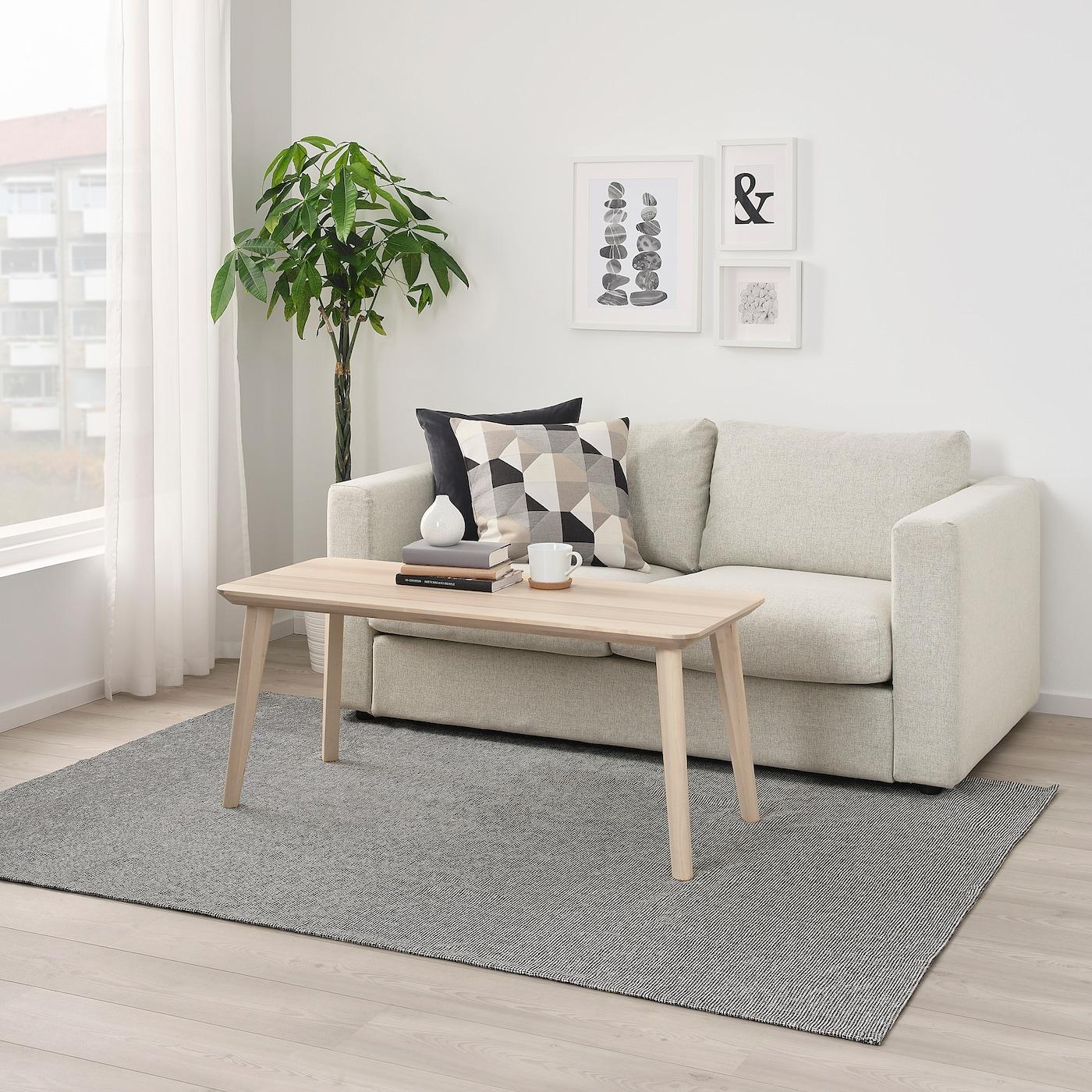TIPHEDE 提普赫德 平织地毯, 灰色/白色, 155x220 厘米