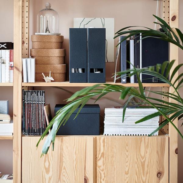希纳 文件盒 黑色 10 厘米 25 厘米 30 厘米 2 件