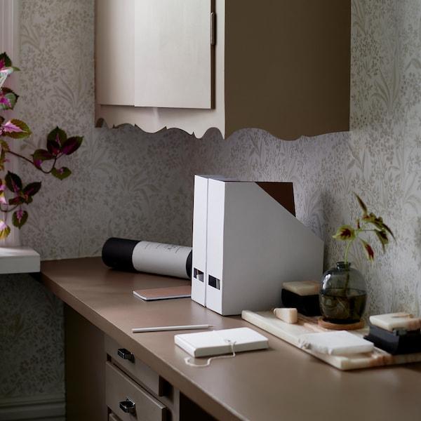 希纳 文件盒 白色 10 厘米 25 厘米 30 厘米 2 件