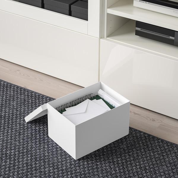 希纳 附盖储物盒 白色 25 厘米 18 厘米 15 厘米