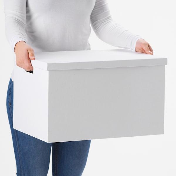 希纳 附盖储物盒 白色 50 厘米 35 厘米 30 厘米
