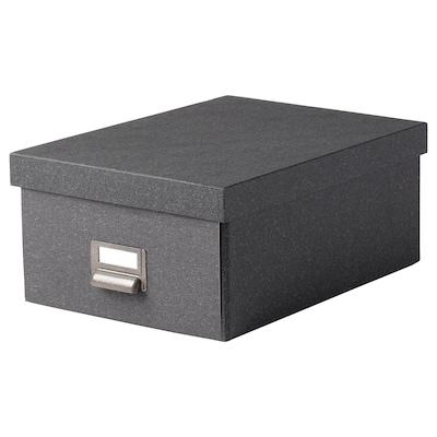 TJOG 乔格 附盖储物盒, 深灰色, 25x36x15 厘米