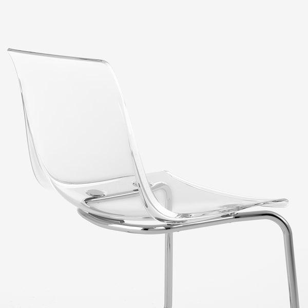 TOBIAS 托亚斯 椅子, 透明/镀铬