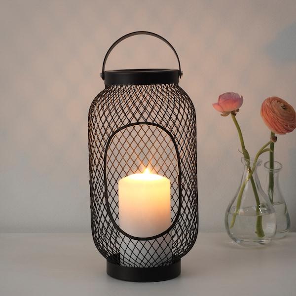 托普格 大块蜡烛灯 黑色 36 厘米