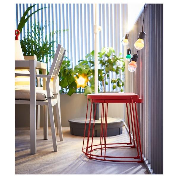特拉纳瑞 凳/边桌,室内/外 红色 110 公斤 56 厘米 41 厘米 43 厘米