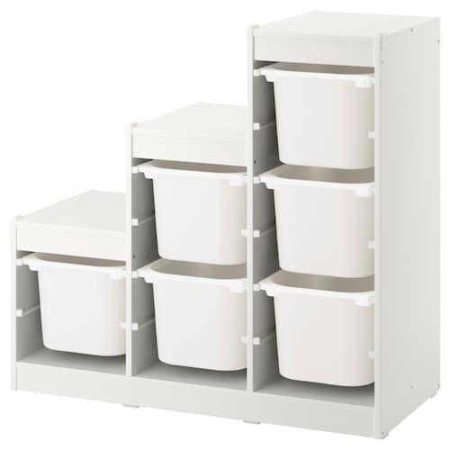 舒法特 储物组合带盒 白色 99 厘米 44 厘米 95 厘米