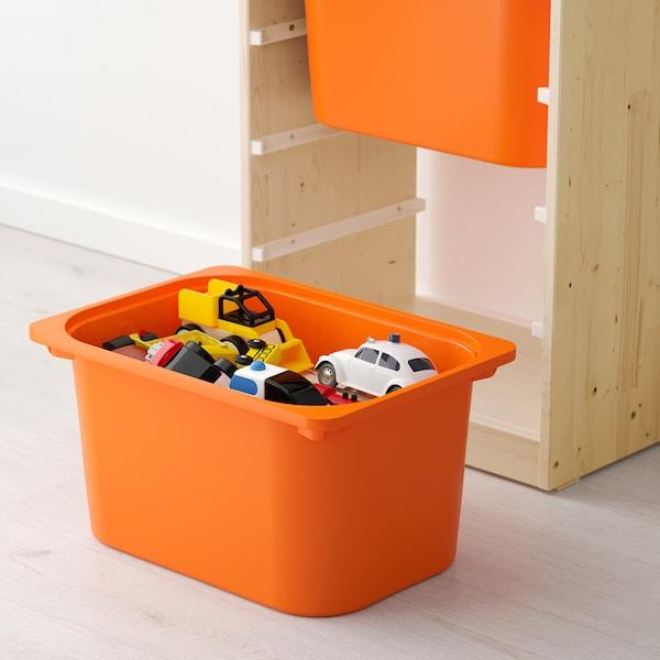 舒法特 储物组合带盒 白漆松木 橙色/黄色 46 厘米 30 厘米 91 厘米