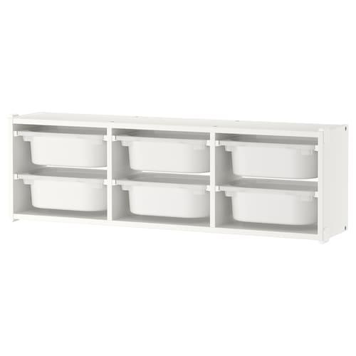 舒法特 壁式储物装置 白色/白色 99 厘米 99 厘米 21 厘米 30 厘米