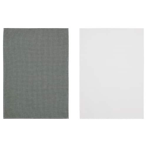 特洛皮尔 厨房用巾 白色/绿色 70 厘米 50 厘米 2 件