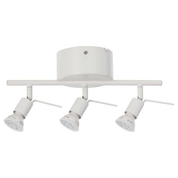 乔斯 3头吸顶灯轨 白色 13 瓦特 36 厘米 13 厘米