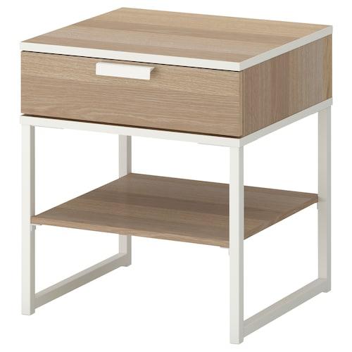 特里索 床边桌 仿白色橡木纹/白色 45 厘米 40 厘米 53 厘米