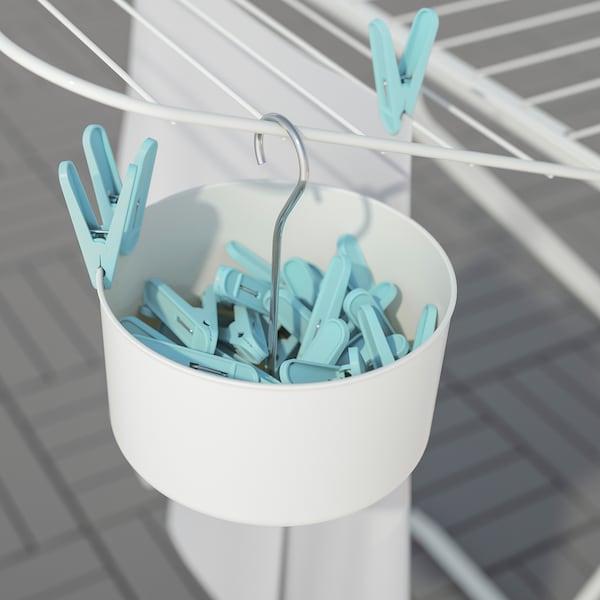 托吉斯 夹篮与衣夹30件, 室内/户外 白色/蓝色