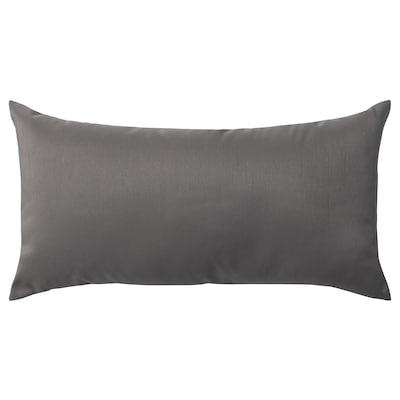 ULLKAKTUS 乌卡特 靠垫, 深灰色, 30x58 厘米