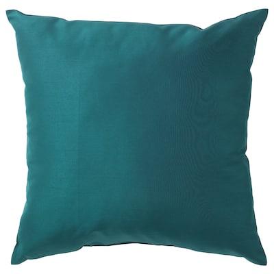 ULLKAKTUS 乌卡特 靠垫, 深蓝绿色, 50x50 厘米